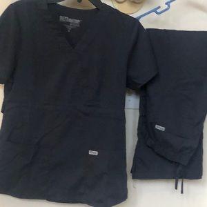 Greys anatomy scrub set size medium color grey